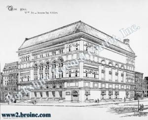 Carnegie Hall architectural drawing