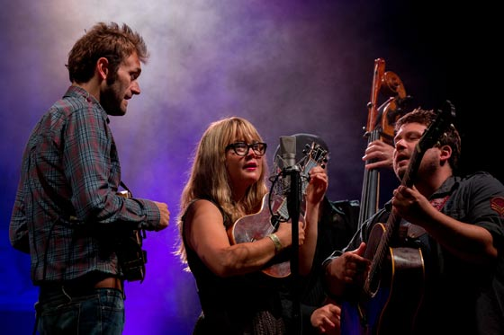 Nickel Creek at Grey Fox Bluegrass Festival (photo by Dave Weiland)