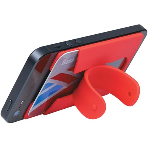 cell phone wallet example stand