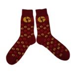 disco biscuits red socks pair