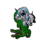 Disco Biscuits – Florida Alligator Pin – front