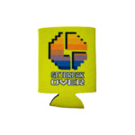 Disco biscuits- setbreak over koozie yellow- front