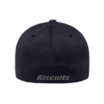 Disco Biscuits Logo Flexfit Dark Navy Grey Back
