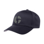 Disco Biscuits Logo Flexfit Dark Navy Grey Front