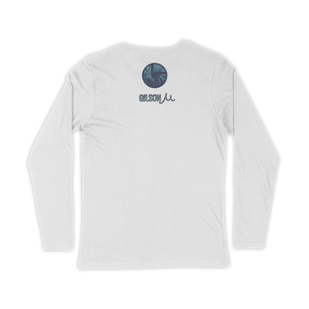 Disco Biscuits Gilson Logo Ladies Long Sleeve Back