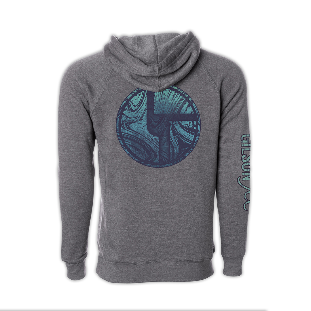 Disco Biscuits x Gilson Logo Grey Pullover Hoodie Back