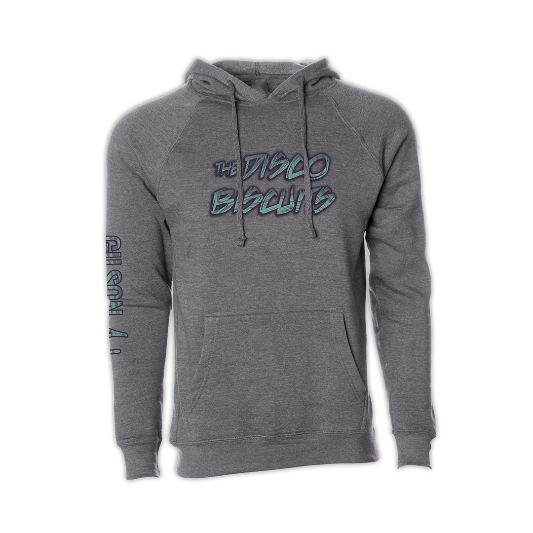 Disco Biscuits x Gilson Logo Grey Pullover Hoodie front