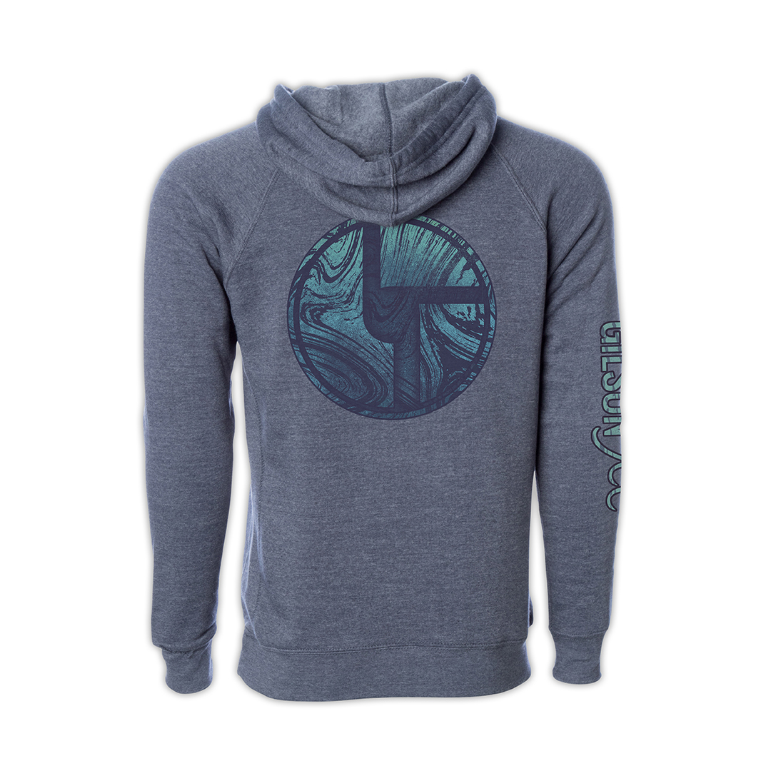 Disco Biscuits x Gilson Logo Navy Pullover Hoodie Back
