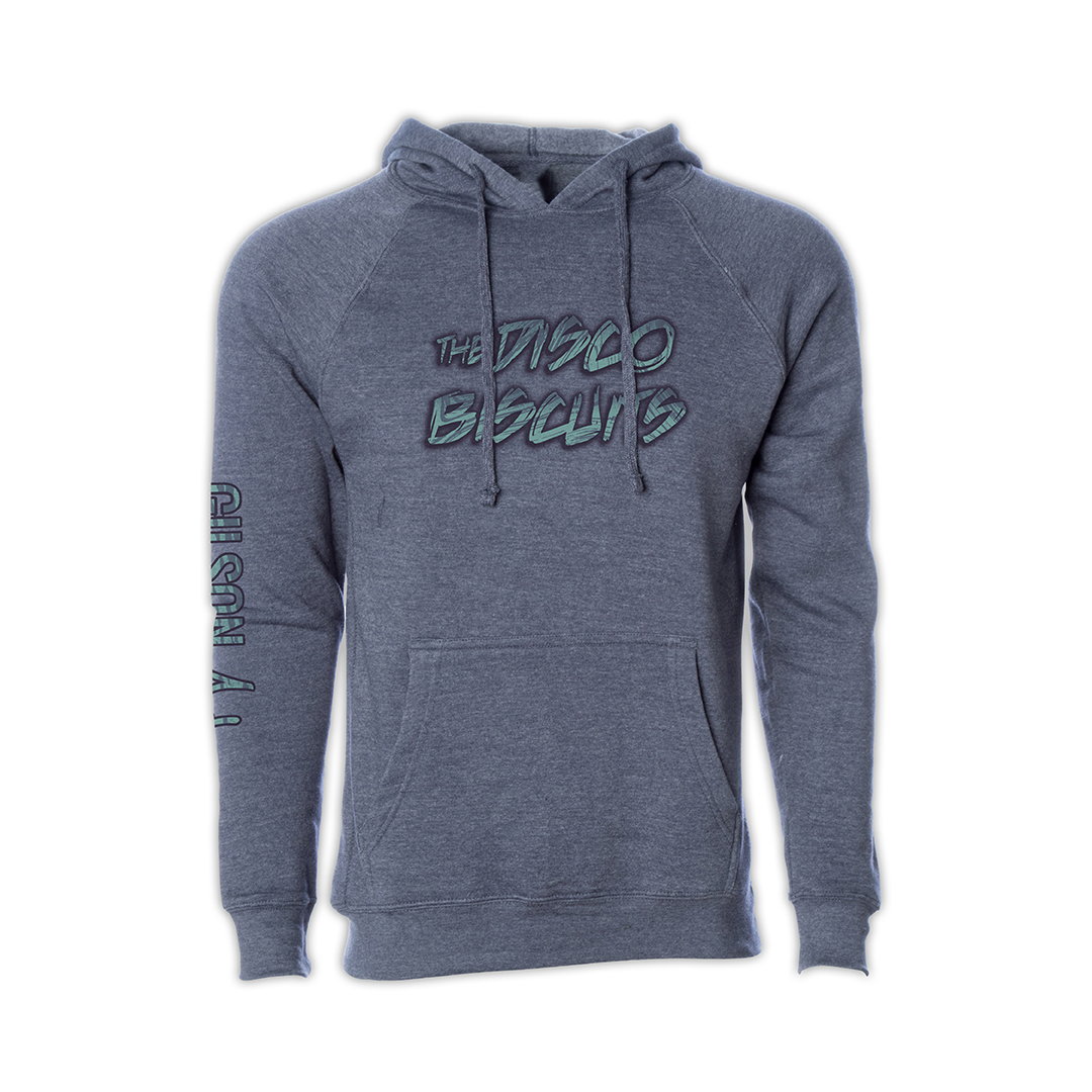 Disco Biscuits x Gilson Logo Navy Pullover Hoodie Front