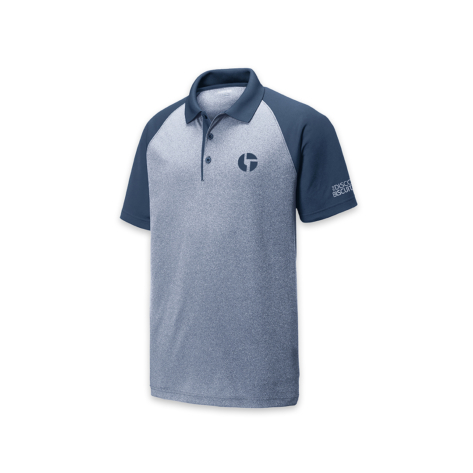 Embroidered Logo Polo Heather Navy Shirt