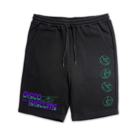 Helicopters Logo Fleece Shorts Black