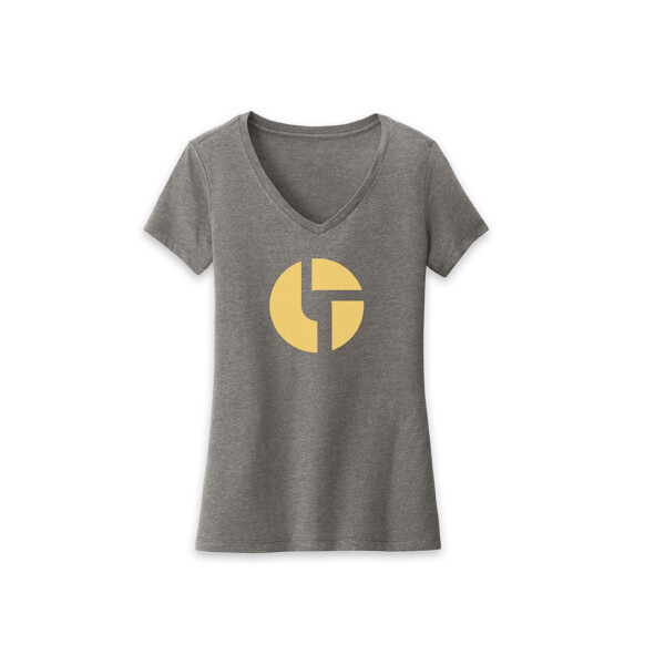 Ladies Logo Grey Frost Shirt Front