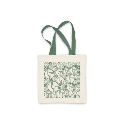 Logo Pattern Forest Green Tote Bag