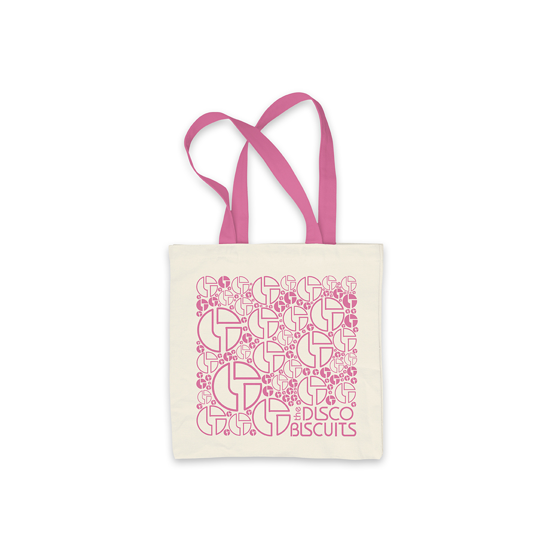 Logo Pattern Pink Tote Bag