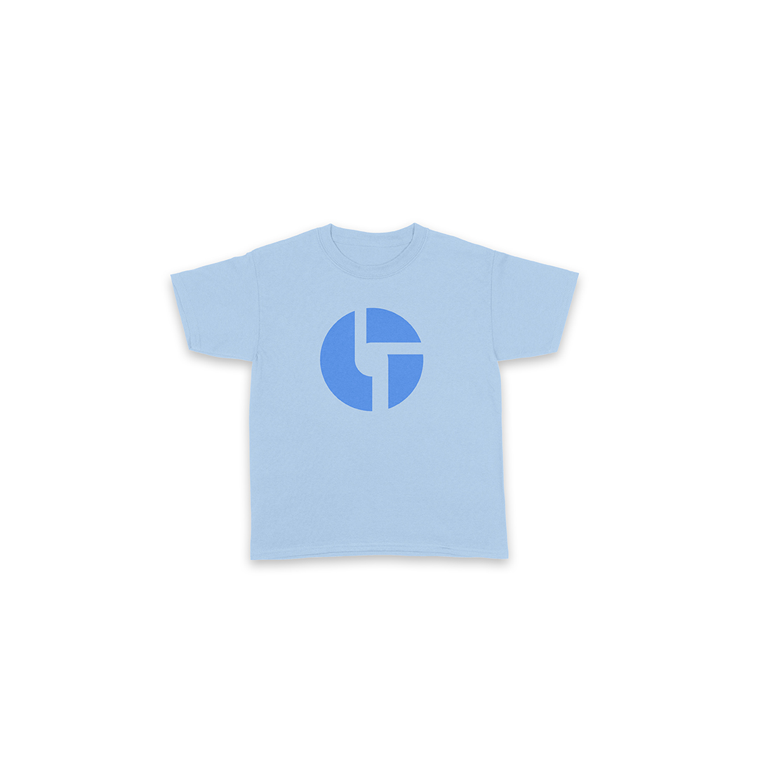 Youth Logo Light Blue Shirt Front
