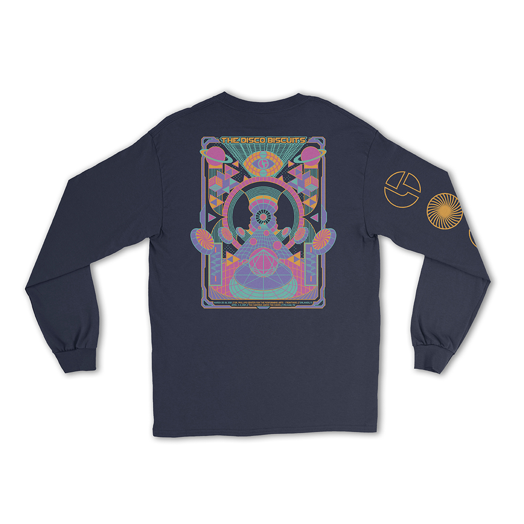 Disco Biscuits Long Sleeve Orlando Caverns Event Shirt Back