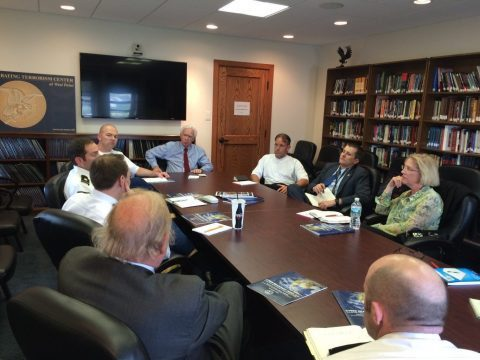 The NCAFP delegation meets with West Point faculty