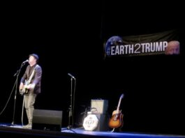 Casey Neill at #Earth2Trump - photo by Kelly D